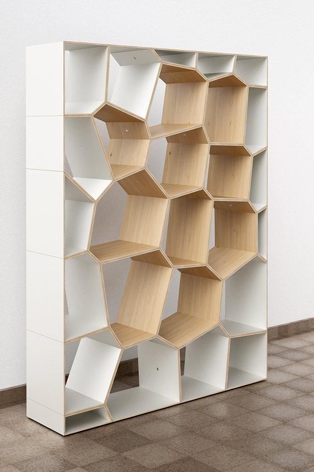 Design Voronoi Cell Fachwerk Framework Korsvirke Regal Shelf Hylla  Raumteiler Room Divider Rumsdelar Sperrholz Plywood
