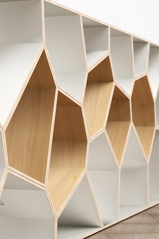 ... Design Voronoi Cell Fachwerk Framework Korsvirke Regal Shelf Hylla  Raumteiler Room Divider Rumsdelar Sperrholz Plywood ...