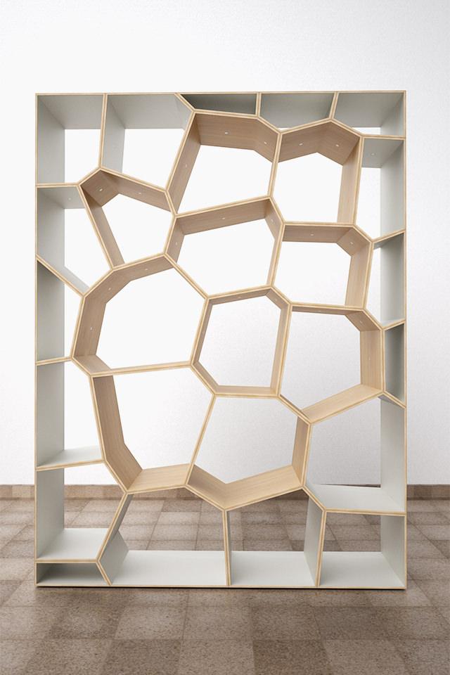 Schön ... Design Voronoi Cell Fachwerk Framework Korsvirke Regal Shelf Hylla  Raumteiler Room Divider Rumsdelar Sperrholz Plywood ...