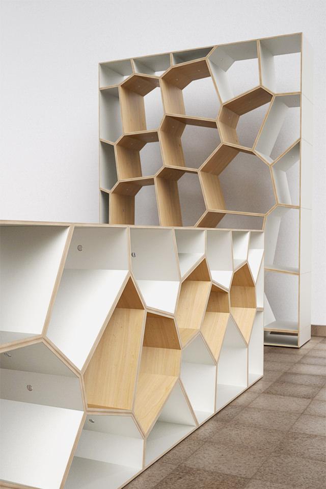 ... Design Voronoi Cell Fachwerk Framework Korsvirke Regal Shelf Hylla  Raumteiler Room Divider Rumsdelar Sperrholz Plywood