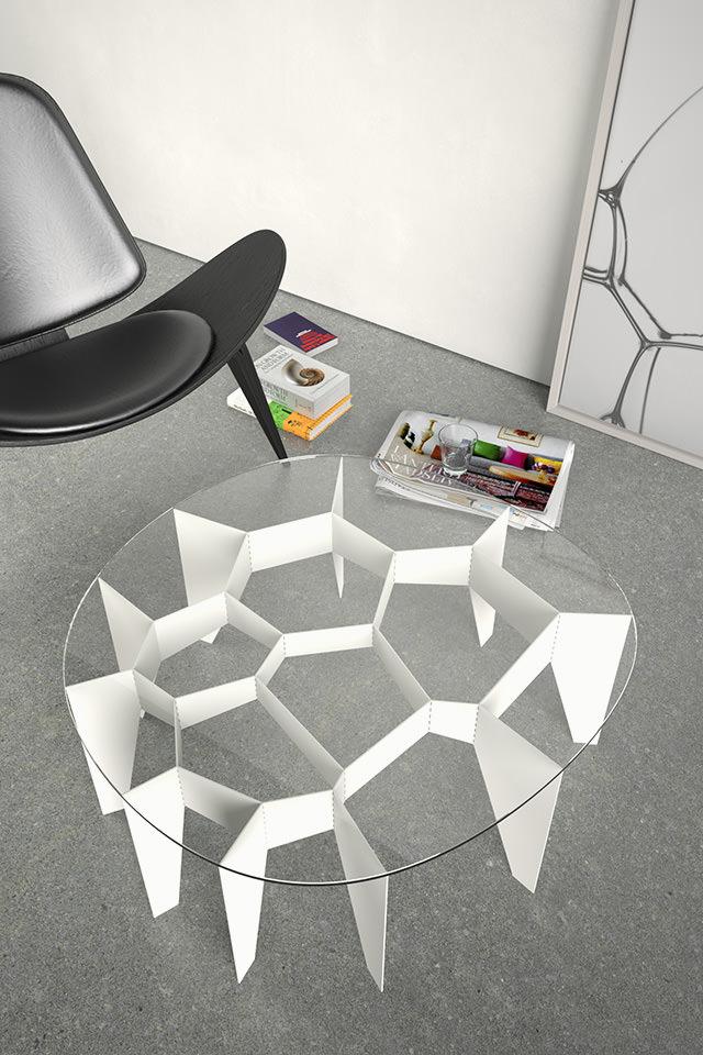 Design Voronoi Zelle Cell # Fachwerk Framework Korsvirke Tisch Table Bord